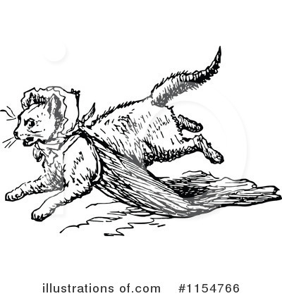 Royalty-Free (RF) Cat Clipart Illustration by Prawny Vintage - Stock Sample #1154766