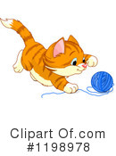 Royalty-Free (RF) Cat Clipart Illustration #1198978