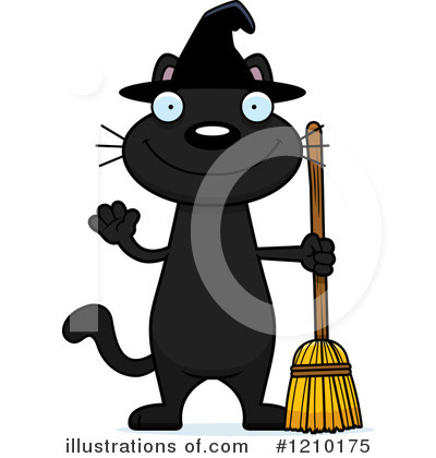 Black Cat Clipart #1210175 by Cory Thoman