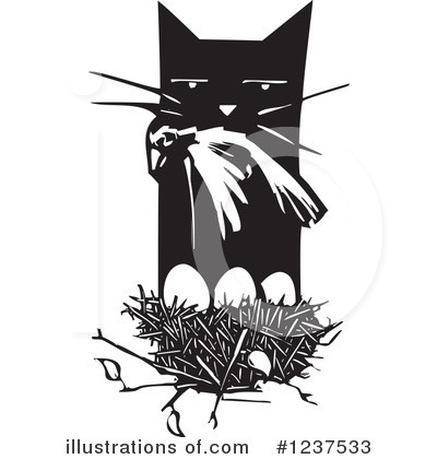 Royalty-Free (RF) Cat Clipart Illustration by xunantunich - Stock Sample #1237533