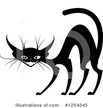Scared Cat Clipart #1254545 by Vector Tradition SM