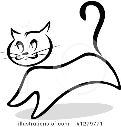 Cat Clipart #1279771 by Vector Tradition SM