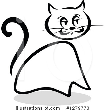 Cat Clipart #1279773 by Vector Tradition SM