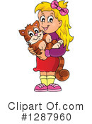 Royalty-Free (RF) Cat Clipart Illustration #1287960