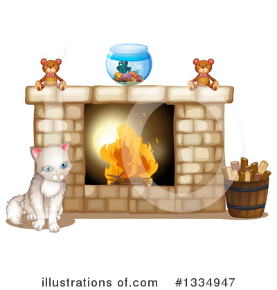 Fireplace Clipart #1334947 by Graphics RF