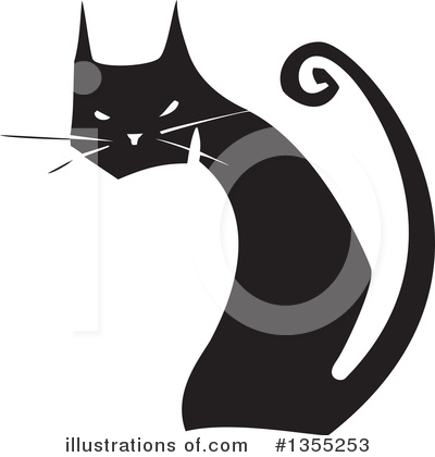 Black Cat Clipart #1355253 by xunantunich