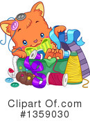 Royalty-Free (RF) Cat Clipart Illustration #1359030