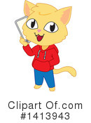 Royalty-Free (RF) Cat Clipart Illustration #1413943