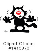 Cat Clipart #1413973 by Johnny Sajem