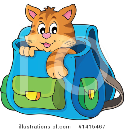 Cat Clipart #1415467 by visekart