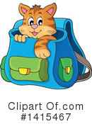 Royalty-Free (RF) Cat Clipart Illustration #1415467