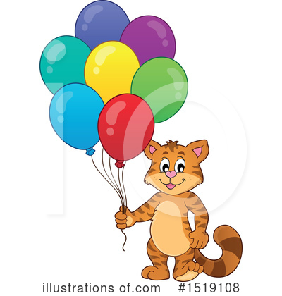 Royalty-Free (RF) Cat Clipart Illustration by visekart - Stock Sample #1519108
