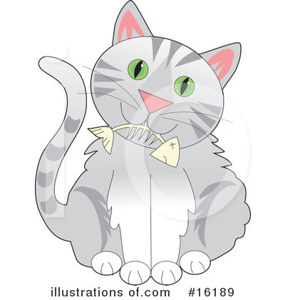 Tabby Cat Clipart #16189 by Maria Bell