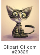 Royalty-Free (RF) Cat Clipart Illustration #20329