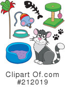 Royalty-Free (RF) Cat Clipart Illustration #212019