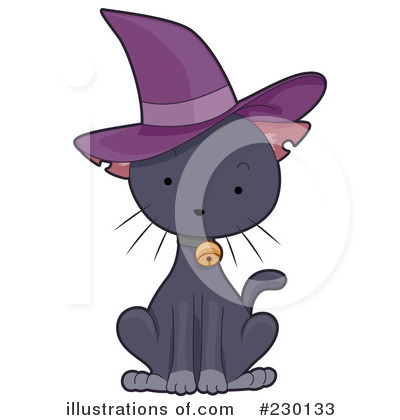 Witch Cat Clipart #230133 by BNP Design Studio