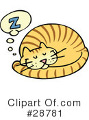Royalty-Free (RF) Cat Clipart Illustration #28781