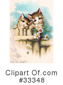 Royalty-Free (RF) Cat Clipart Illustration #33348