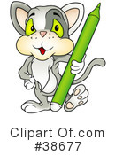 Royalty-Free (RF) cat Clipart Illustration #38677