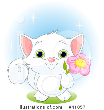 Royalty-Free (RF) Cat Clipart Illustration by Pushkin - Stock Sample #41057
