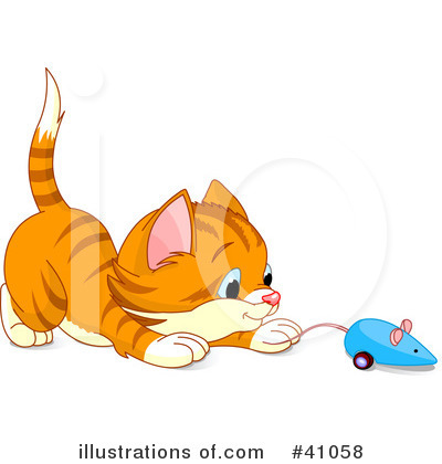 Royalty-Free (RF) Cat Clipart Illustration by Pushkin - Stock Sample #41058