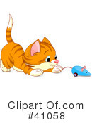 Royalty-Free (RF) Cat Clipart Illustration #41058