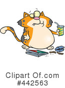 Cat Clipart #442563 by toonaday