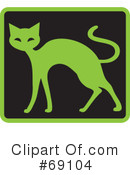 Royalty-Free (RF) Cat Clipart Illustration #69104
