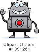 Royalty-Free (RF) Cat Robot Clipart Illustration #1091261