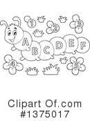 Royalty-Free (RF) Caterpillar Clipart Illustration #1375017
