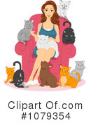 Royalty-Free (RF) cats Clipart Illustration #1079354
