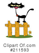 Royalty-Free (RF) Cats Clipart Illustration #211593