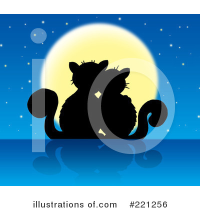 Royalty-Free (RF) Cats Clipart Illustration by visekart - Stock Sample #221256
