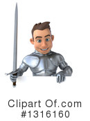Caucasian Male Knight Clipart #1316160 by Julos
