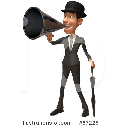 White Businessman Character Clipart #87225 by Julos