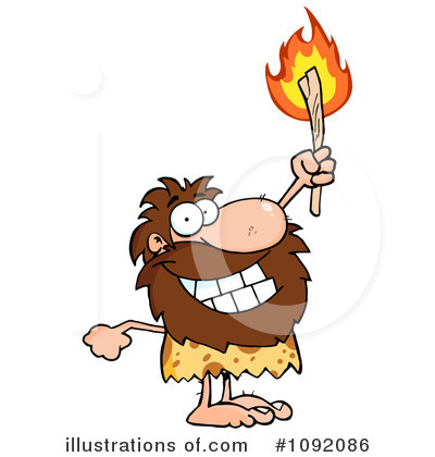 Caveman Clipart #1092086 by Hit Toon