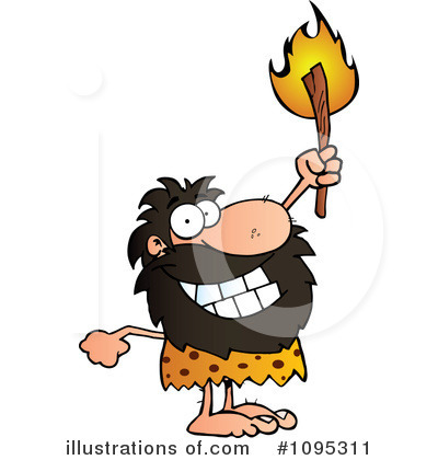 Caveman Clipart #1095311 by Hit Toon