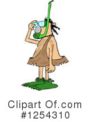 Royalty-Free (RF) Caveman Clipart Illustration #1254310