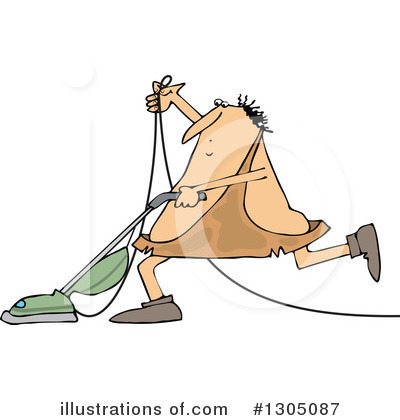 Royalty-Free (RF) Caveman Clipart Illustration by djart - Stock Sample #1305087