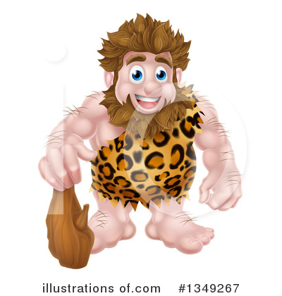 Caveman Clipart #1349267 by AtStockIllustration