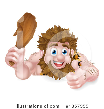 Caveman Clipart #1357355 by AtStockIllustration