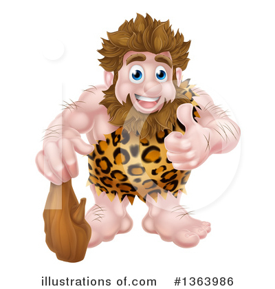 Caveman Clipart #1363986 by AtStockIllustration