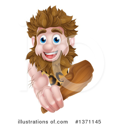 Caveman Clipart #1371145 by AtStockIllustration