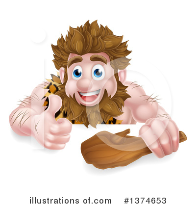 Caveman Clipart #1374653 by AtStockIllustration