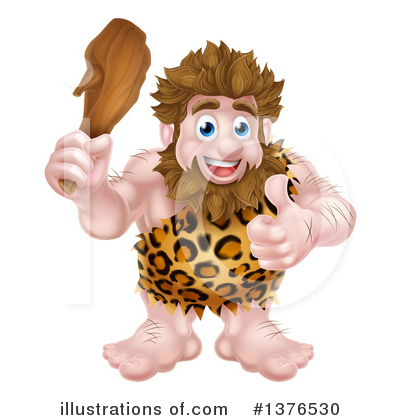 Caveman Clipart #1376530 by AtStockIllustration