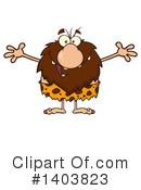 Caveman Clipart #1403823 by Hit Toon