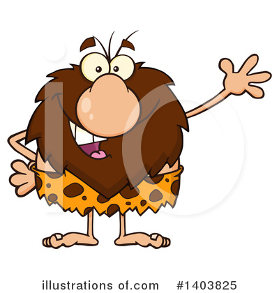 Caveman Clipart #1403825 by Hit Toon