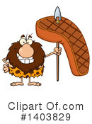 Caveman Clipart #1403829 by Hit Toon