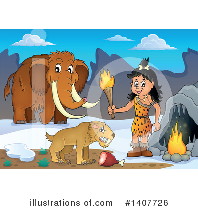 Woolly Mammoth Clipart #1407726 by visekart