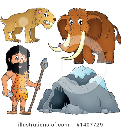 Woolly Mammoth Clipart #1407729 by visekart